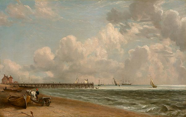 Yarmouth Jetty, c.1822/23 | Constable | Gemälde Reproduktion