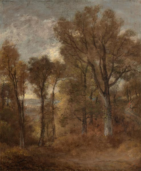 Woodland Scene Overlooking Dedham Vale, c.1802/03 | Constable | Painting Reproduction