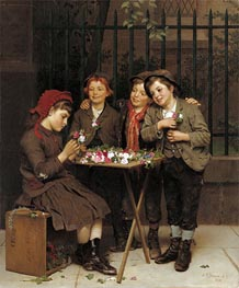Tough Customers, 1881 by John George Brown | Painting Reproduction