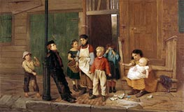 The Bully of the Neighbourhood, 1866 von John George Brown | Gemälde-Reproduktion