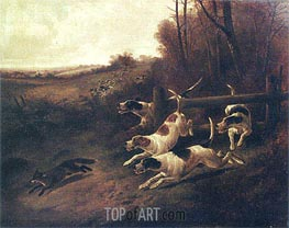 Fox Hunting, c.1850/00 by John Gifford | Painting Reproduction