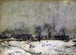 Winter Landscape, Cincinnati, c.1901/02 by John Henry Twachtman | Painting Reproduction