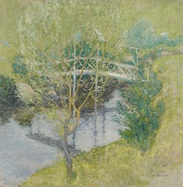 The White Bridge, c.1895 by John Henry Twachtman | Painting Reproduction