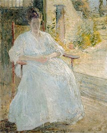 Figure in Sunlight (Artist's Wife), c.1890/00 by John Henry Twachtman | Painting Reproduction