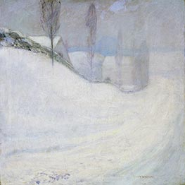 Round Hill Road | John Henry Twachtman | Painting Reproduction