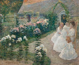 On the Terrace | John Henry Twachtman | Painting Reproduction
