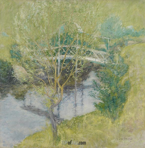 The White Bridge, c.1895 | John Henry Twachtman | Painting Reproduction