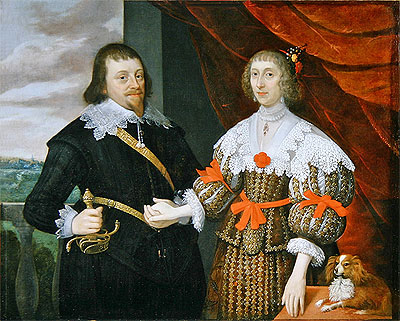 Portrait of a Husband and Wife (Possibly Members of the Selby Family), c.1635 | John Parker | Painting Reproduction
