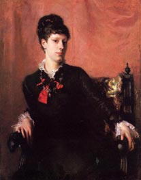 Frances Sherborne Ridley Watts, 1877 by Sargent | Painting Reproduction