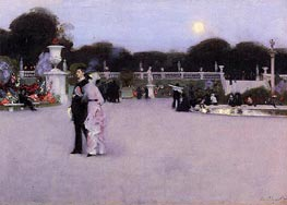 In the Luxembourg Gardens, 1879 von Sargent | Gemälde-Reproduktion