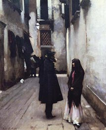 Venetian Street | Sargent | Painting Reproduction