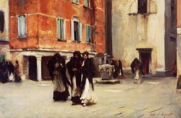 Leaving Church, Campo San Canciano, Venice, c.1882 von Sargent | Gemälde-Reproduktion