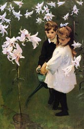 Garden Study of the Vickers Children, 1884 by Sargent | Painting Reproduction