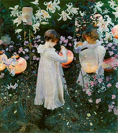 Carnation, Lily, Lily, Rose | Sargent | Painting Reproduction