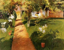 Millet's Garden, 1886 by Sargent | Painting Reproduction