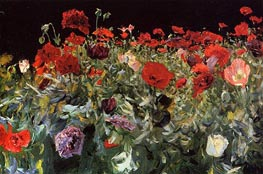 Poppies, 1886 by Sargent | Painting Reproduction