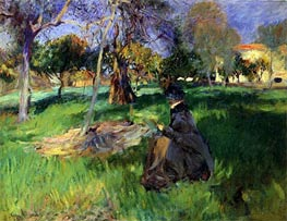 In the Orchard, c.1883/85 von Sargent | Gemälde-Reproduktion
