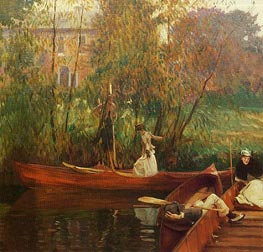 A Boating Party | Sargent | Painting Reproduction