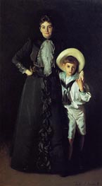 Mrs. Edward L. Davis and Her Son Livingston Davis, 1890 von Sargent | Gemälde-Reproduktion