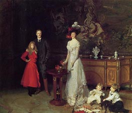 Sir George Sitwell, Lady Ida Sitwell and Family, 1900 von Sargent | Gemälde-Reproduktion