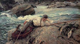On His Holidays | Sargent | Painting Reproduction