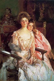 Mrs. Fiske Warren and Her Daughter Rachel, 1903 by Sargent | Painting Reproduction