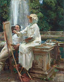 The Fountain, Villa Torlonia, Frascati, Italy, 1907 by Sargent | Painting Reproduction