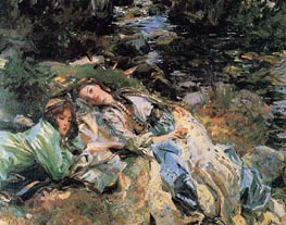 The Brook, c.1907 by Sargent | Painting Reproduction