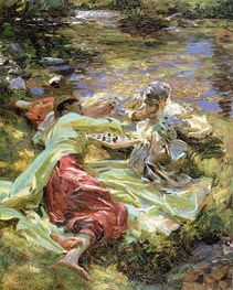 The Chess Game | Sargent | Gemälde Reproduktion