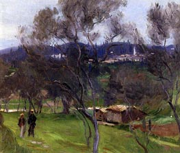 Olive Trees, Corfu, 1909 by Sargent | Painting Reproduction