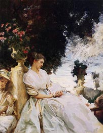 In the Garden, Corfu, 1909 by Sargent | Painting Reproduction