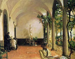 Villa Torre Galli: The Loggia, 1910 by Sargent | Painting Reproduction