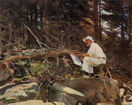The Artist Sketching | Sargent | Gemälde Reproduktion