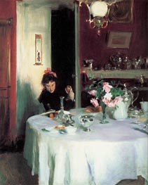The Breakfast Table, 1884 by Sargent | Painting Reproduction