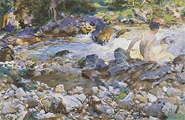 Mountain Stream, c.1912/14 von Sargent | Gemälde-Reproduktion