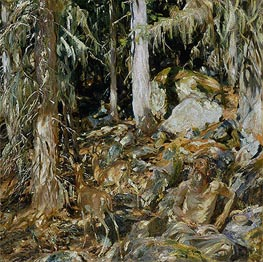 The Hermit (Il solitario), 1908 by Sargent | Painting Reproduction