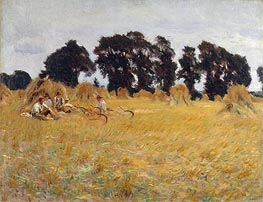 Reapers Resting in a Wheat Field, 1885 von Sargent | Gemälde-Reproduktion