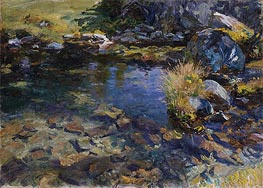Alpine Pool, 1907 by Sargent | Painting Reproduction