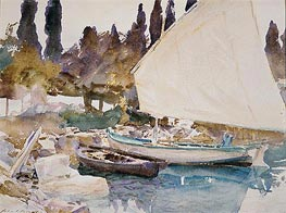 Boats, 1913 by Sargent | Painting Reproduction