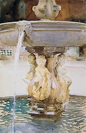 Spanish Fountain, 1912 by Sargent | Painting Reproduction