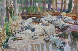 Muddy Alligators, 1917 by Sargent | Painting Reproduction
