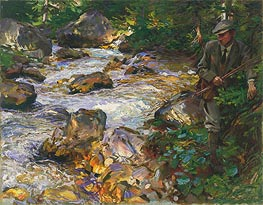 Trout Stream in the Tyrol, 1914 by Sargent | Painting Reproduction