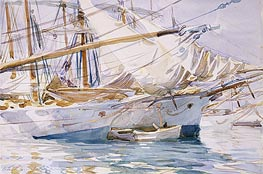 Yachts at Anchor, Palma de Majorca, 1912 by Sargent | Painting Reproduction