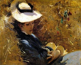 Resting, c.1875 by Sargent | Painting Reproduction
