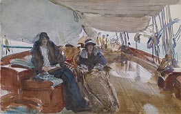 Rainy Day on the Yacht, 1924 von Sargent | Gemälde-Reproduktion