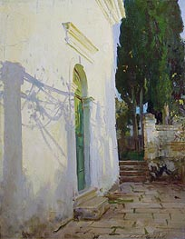 Shadows on a wall in Corfu, 1909 von Sargent | Gemälde-Reproduktion