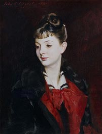Portrait of Mademoiselle Suzanne Poirson | Sargent | Painting Reproduction