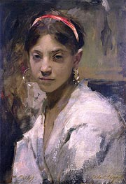 Portrait of a Capri Girl | Sargent | Painting Reproduction