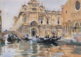 Rio dei Mendicanti, Venice | Sargent | Painting Reproduction