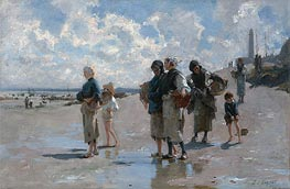 Fishing for Oysters at Cancale | Sargent | Painting Reproduction